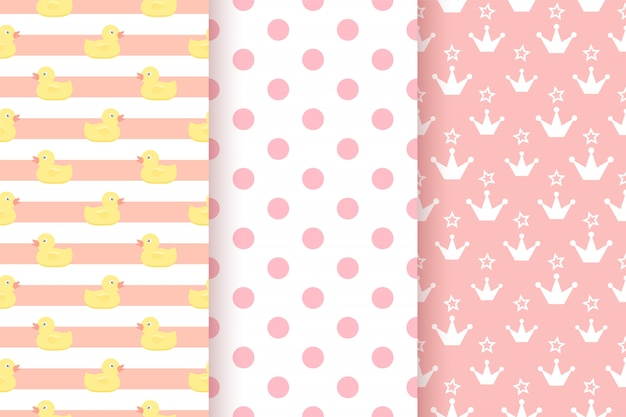 Baby pattern. kids seamless background. pink pastel geometric texture.