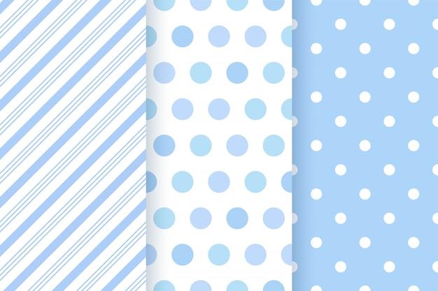 赤ちゃんのパターン。シームレスパターン、ブルーパステルの幾何学的図形。