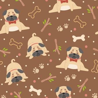 아기 pugs 아이 완벽 한 패턴