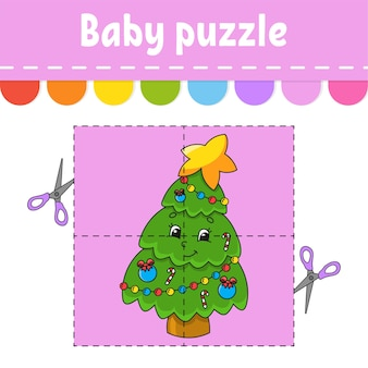 Baby puzzle illustration