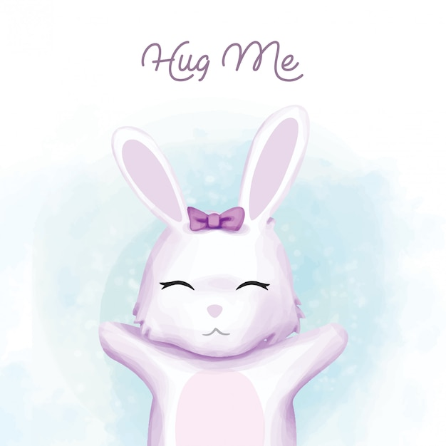 Baby rabbit want to be hug