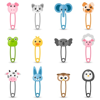 Baby safety pins set