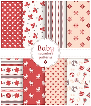 Baby seamless patterns.
