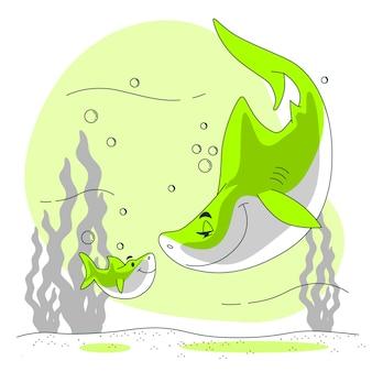 Baby акула концепция иллюстрации