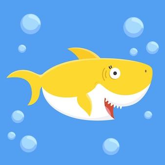 Концепция детской акулы Premium векторы