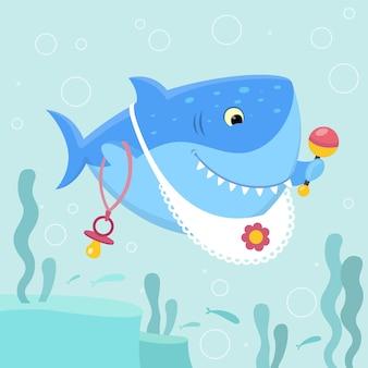 赤ちゃんサメのコンセプト