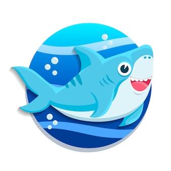 Baby shark flat design