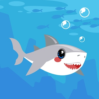 Baby shark illustration