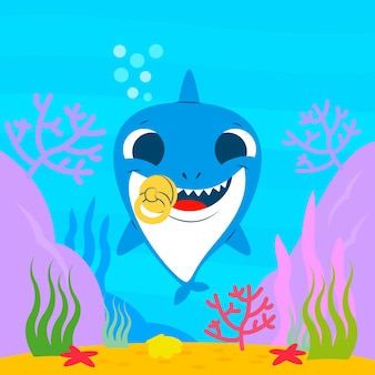 Baby shark water concept