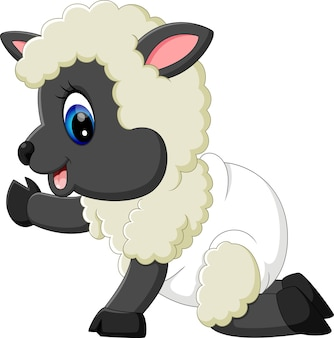 Baby sheep character