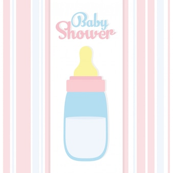 Baby shower. baby bottle milk accessory