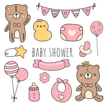 ベビーシャワー、女の赤ちゃんの要素