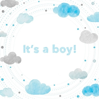 Cloud baby shower. Vectors photos and psd