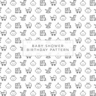 Baby shower birthday pattern background design