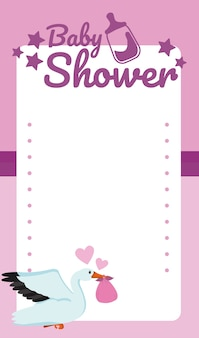 Baby shower blank card