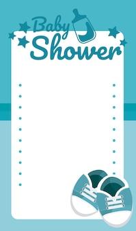 Baby shower blank card