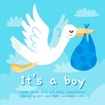 Baby shower boy background