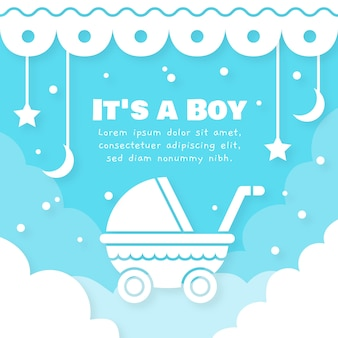 Baby shower boy illustration