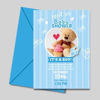Baby shower for boy invitation