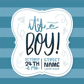 Baby shower boy wallpaper