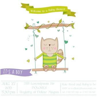 Открытка на день рождения ребенка кошка