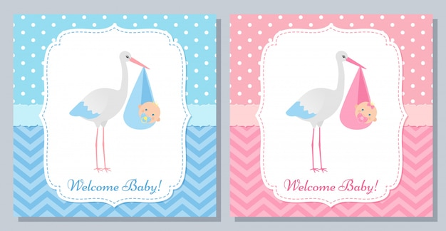 Baby shower card design.