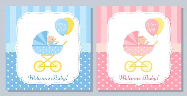 Baby shower card design.