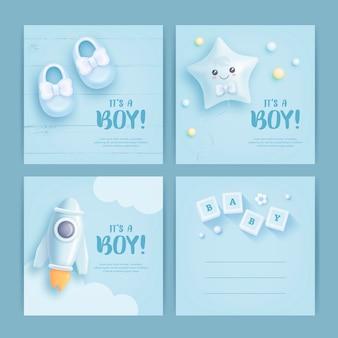 ベビーシャワーカードのデザイン