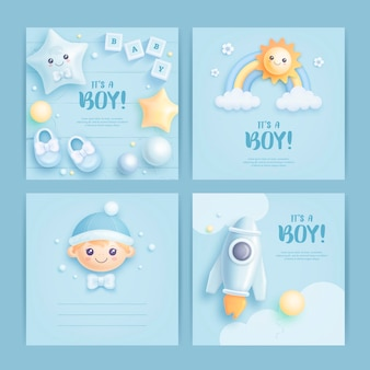 베이비 샤워 카드 디자인