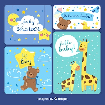 Baby shower card invitation collection