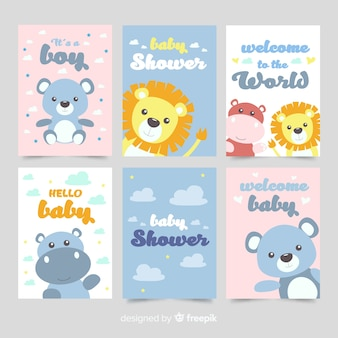 Baby shower card pack