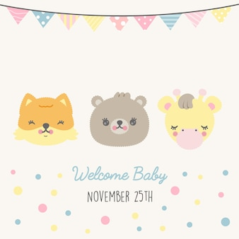 Baby shower card premium