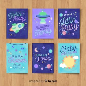 Set di carte baby doccia