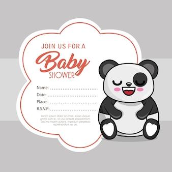 クマのパンダのベビーシャワーカード