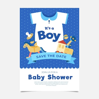 Baby shower celebration invitation template