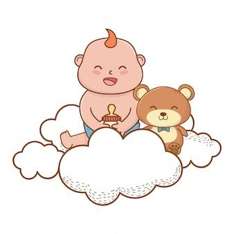 Baby shower cute beautiful illustration