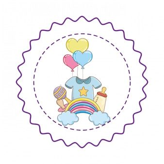 Baby shower cute beautiful illustration