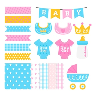 Baby shower cute scrapbook set