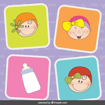 Baby shower cute stickers