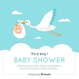 Baby shower design in stile piatto