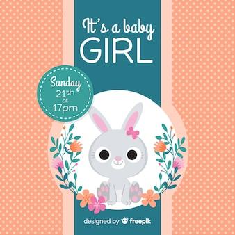 Baby shower design for girl