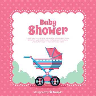 Baby shower design in flat style