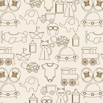 ベビーシャワーデザイン、ベクトルイラストeps10グラフィック