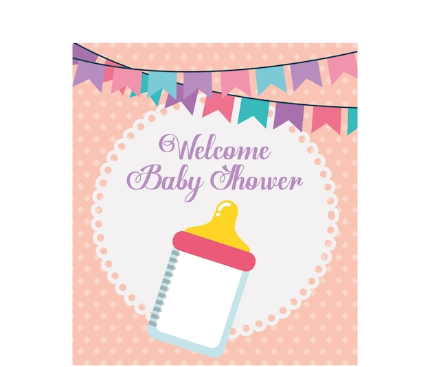 Baby shower design, vector illustration eps10 graphic