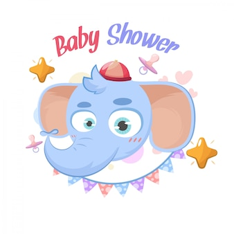 Baby shower elephant greetings