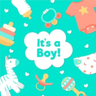 Evento di baby shower per il tema del ragazzo