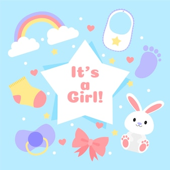 Baby shower event with girl theme