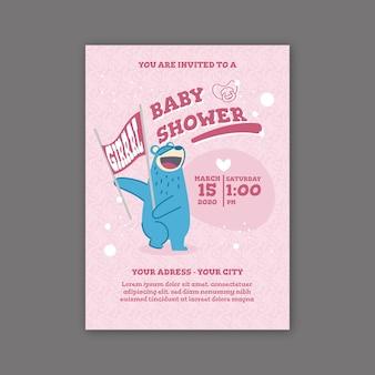 Детский душ для концепции приглашения девушки