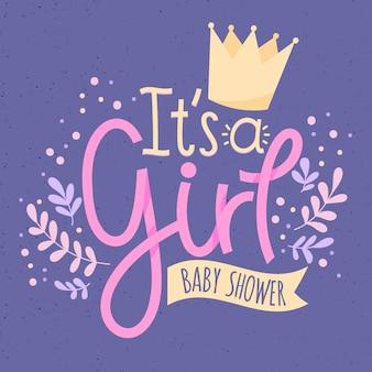 女の子のためのベビーシャワー