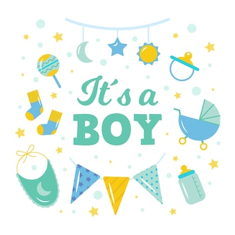 Baby shower gender reveal for boy